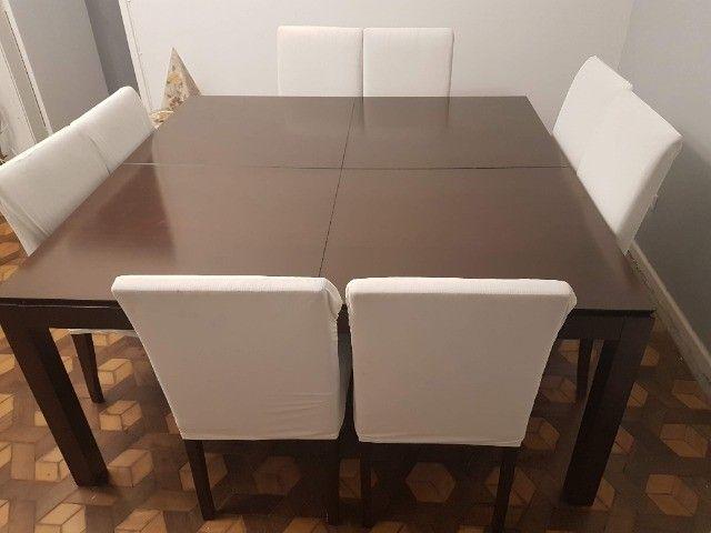 Linda Mesa Quadrada 1,60 X 1,60 + 8 cadeiras - Foto 2