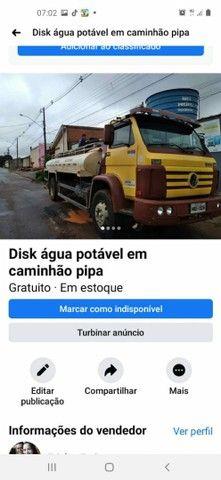 Mas tecimento de água em caminhão pipa *