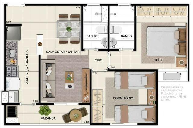 Vendo Apartamento no Prime Mosaico com 2 quartos - Foto 10