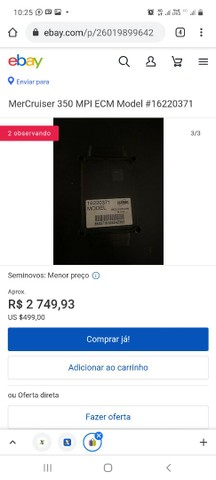 MerCruiser 350 MPI ECM Model #16220371 - Foto 2