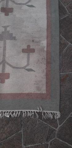 Tapete em lã natural Kilim indiano 90 x 150 cm - Foto 6