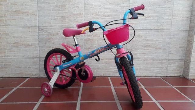 Bicicleta Infantil Aro 16 - Semi Nova - Foto 6
