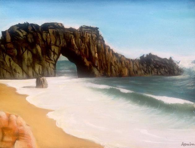 Pintura óleo sobre tela de paisagem