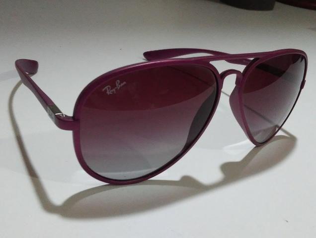 Óculos De Sol Importado Ray-Ban Aviator Liteforce RB4180 Roxo - Foto 6