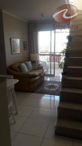 Cobertura com 2 dormitórios à venda, 124 m² por r$ 452.000 - jardim das indústrias - são j