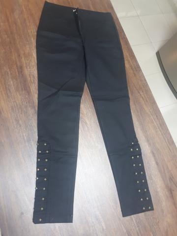 Calça Sarja com detalhes nas pernas - Foto 3