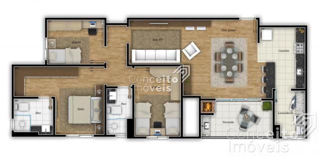 Apartamento à venda com 3 dormitórios em Centro, Ponta grossa cod:391950.001 - Foto 4