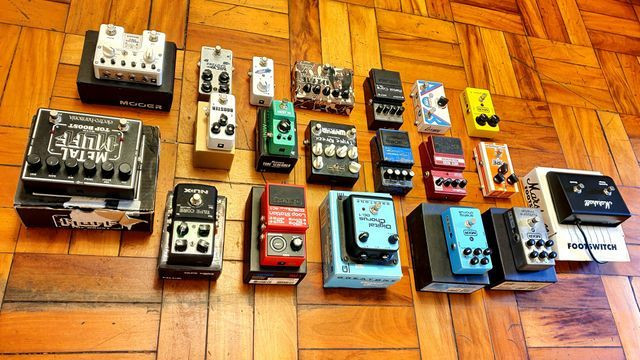 Set pedais pedalboard pedaleira mooer fire boss line 6 nux digitech zoom mxr - Foto 4