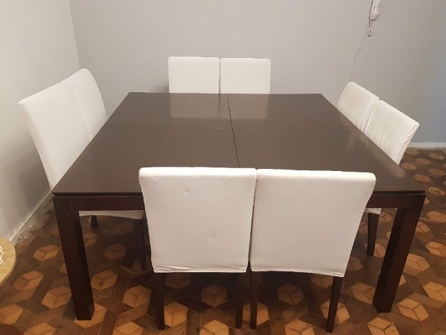 Linda Mesa Quadrada 1,60 X 1,60 + 8 cadeiras