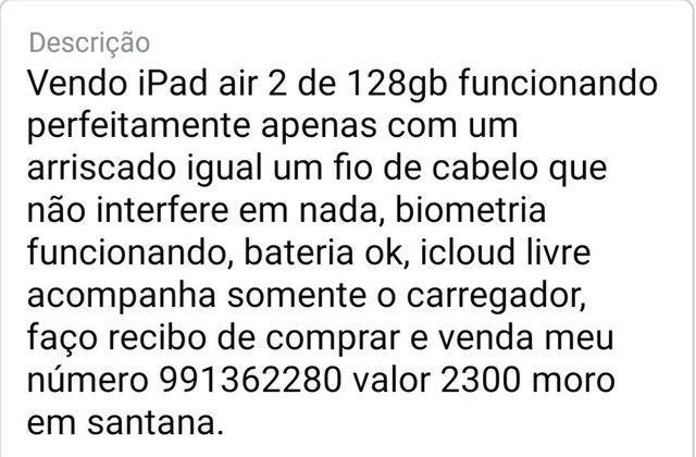 Vendo iPad air 2de 128gb Descrição nas fotos  - Foto 3