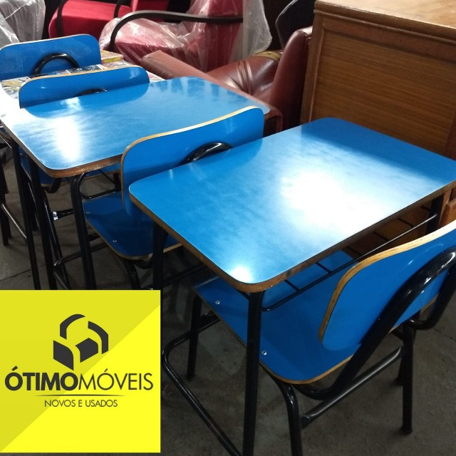 Mesa escolar com cadeira por apenas 69,99 cada, temos várias peças