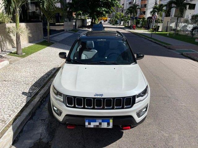 Jeep Compass Longitude Diesel 4x4 Teto Solar botão start/stop 20/20 - Foto 16