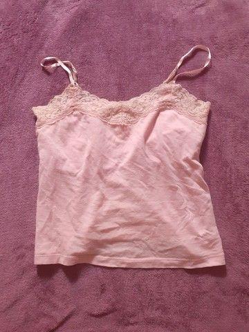 Blusa rosa claro