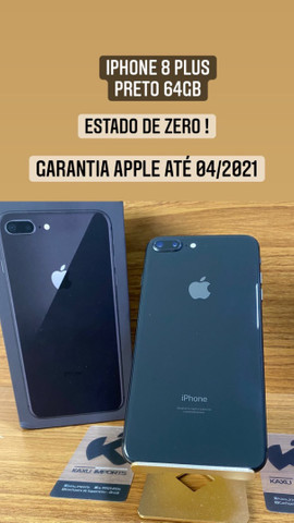 iPhone 8 Plus Preto 64gb - Garantia Apple 04/2021
