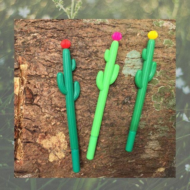 Canetas bamby, flamingo e diamante, cactus, delícias etc - Foto 5