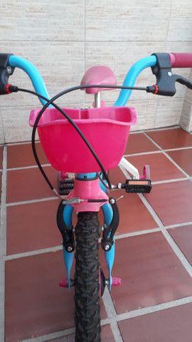 Bicicleta Infantil Aro 16 - Semi Nova - Foto 3
