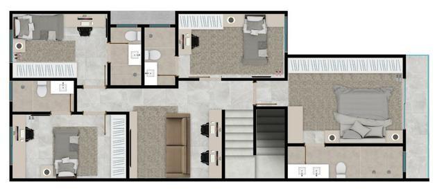 Sobrado em cond fechado 4 suites de alto padrão lazer completo ac financiamento - Foto 5