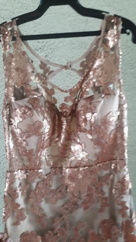 Vestido sereia no paetê bordado - Foto 4