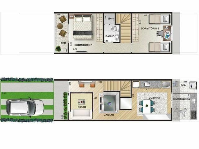 Casas prontas em Jandira 2 dormitórios com quintal Minha Casa Minha Vida - Foto 10
