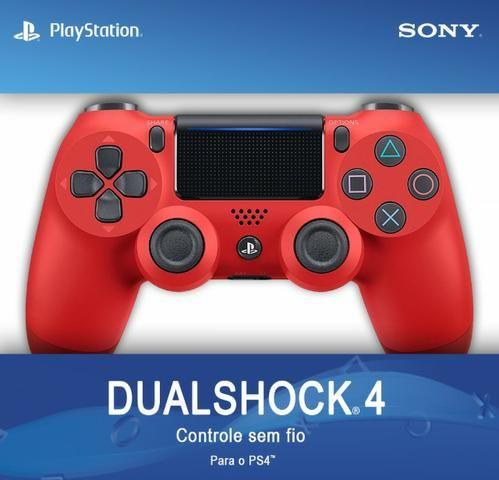 Controle Ps4 Sem Fio Dualshock 4 Vermelho - Sony (original)
