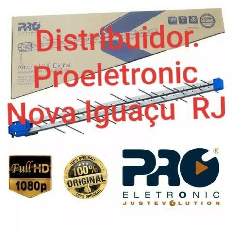 Antena Pq45-1300 Digital 38 Elementos 5 unidades Proeletronic com Suporte - Foto 2