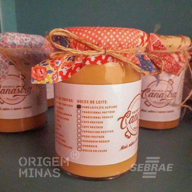 Doce Puro Leite 1% Açúcar - 350 g | Doceria Canastra - Foto 2
