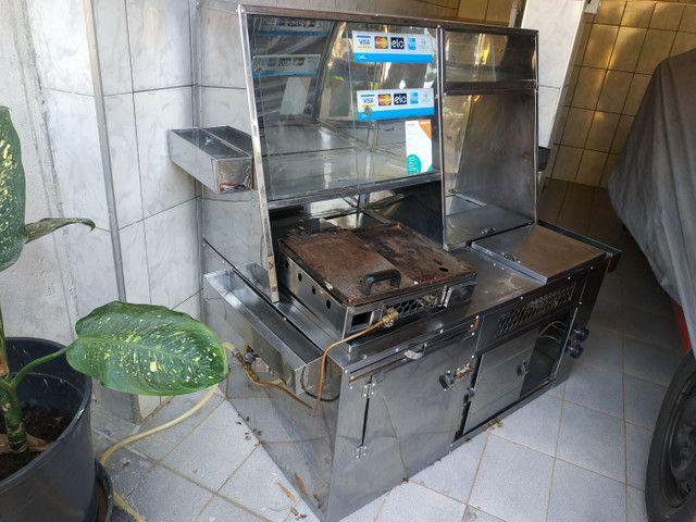 Kit para lanches e hot dog completo com muitos compartimentos... - Foto 4