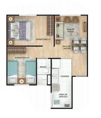 Apartamento 2/4 em Itinga- Entrada R$ 10 e subsidio de até 36 mil - Foto 5