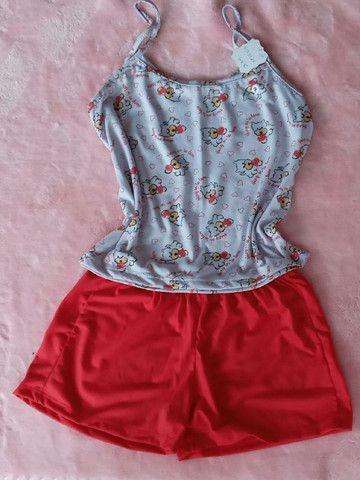 Pijama malha estampado P - Foto 2