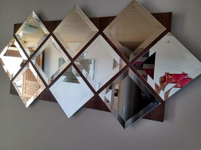Painel de espelhos com 1,20 x 60 pronto para pendurar na parede - Foto 2