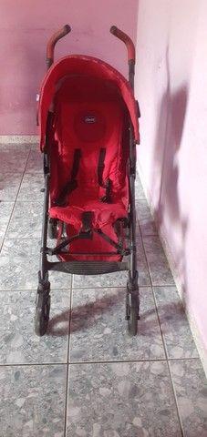 Carrinho de bebê Chicco LITE WAY cor:vermelho bem conservado  - Foto 2