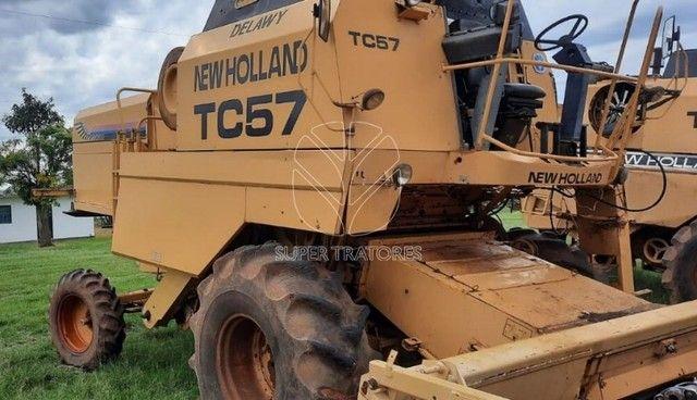 Colheitadeira New Holland TC57 Arrozeira ano 1998. - Foto 2