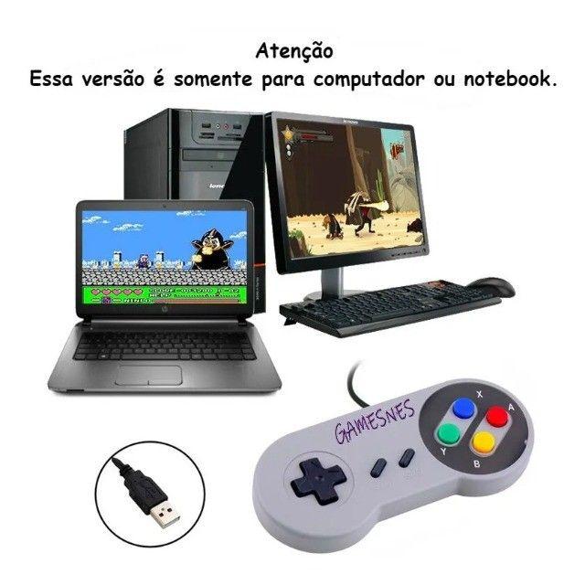 Super Nintendo Portátil 2100 Jogos - 2 Controles Promoção - Foto 2