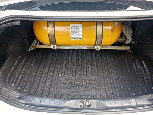Nissan Sentra 2013 2.0 mec.branco(lindo!)completo+gnv+revisado+novíssimo!! - Foto 10