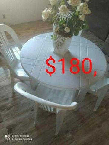 Mesa desmontável com 4 cadeiras - Foto 4