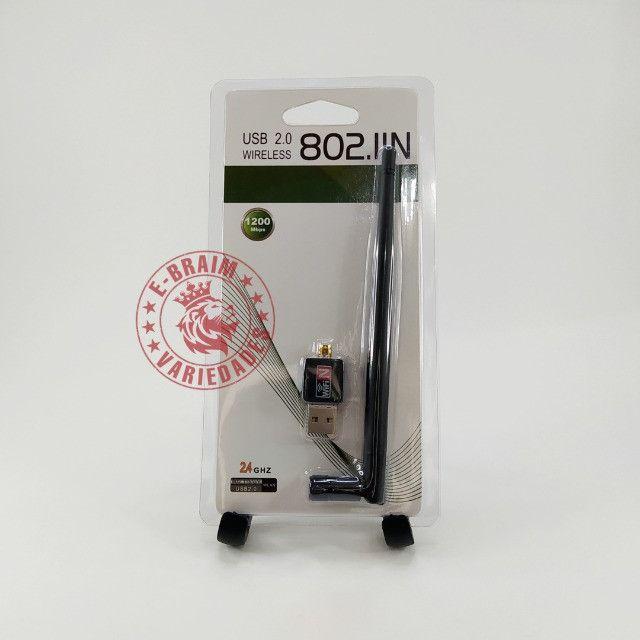 Adaptador USB Wifi com Antena 1200 Mbps - Foto 5