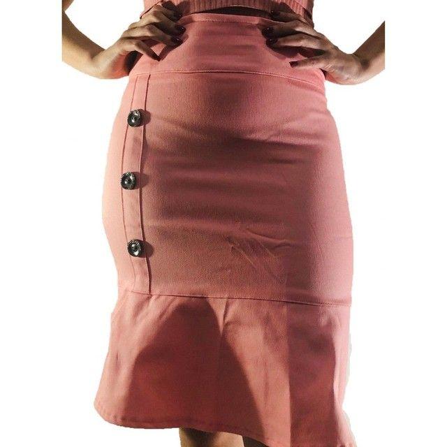 10 lindas saias evangélica brim com lycra - Foto 3