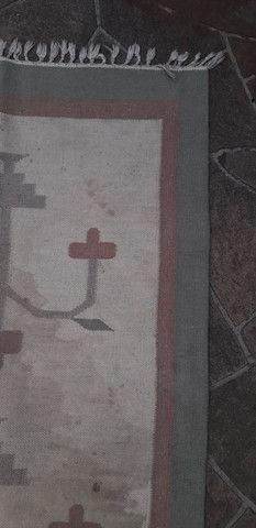 Tapete em lã natural Kilim indiano 90 x 150 cm - Foto 3