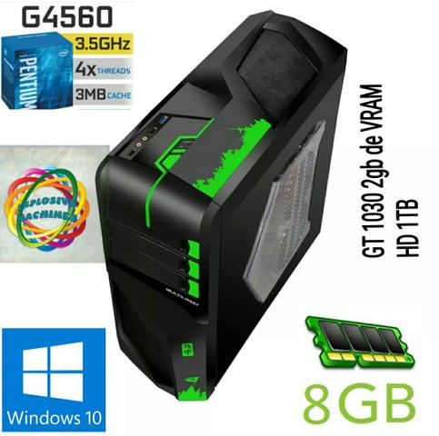 (Novo) Computador Intel Pentium G4560 - 8 GB de Ram - GT 1030 2GB (Parcelamos em 12x)