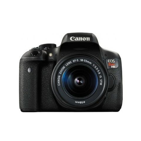 Camera Canon Eos T6I 18-55MM F/3.5-5.6 Is STM Preto - Foto 5