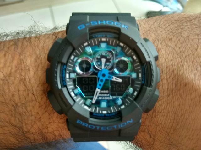 f29723147e1 Relógio Casio Gshock modelo ga100 completo - Bijouterias