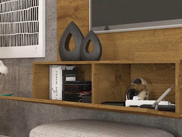 Painel Home suspenso para TV 55'' - Paris *NOVO* ShopMix Móveis Modernidade - Foto 4