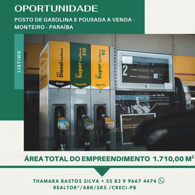Oportunidade Posto de gasolina e pousada a venda no melhor de Monteiro