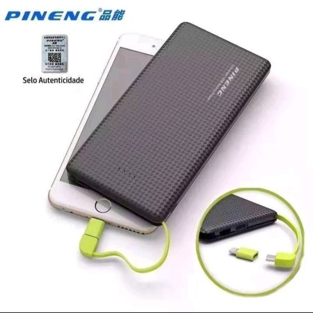 Carregador Portatil  bateria extra originalCelular 10000mah Pineng - Foto 2