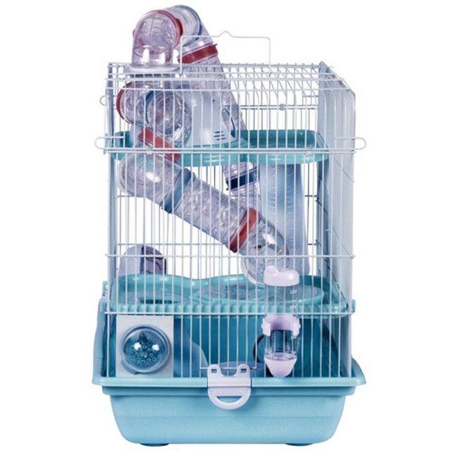 Gaiola Hamster Safari Super Gigante - Azul (seminovo / na caixa) - Foto 3