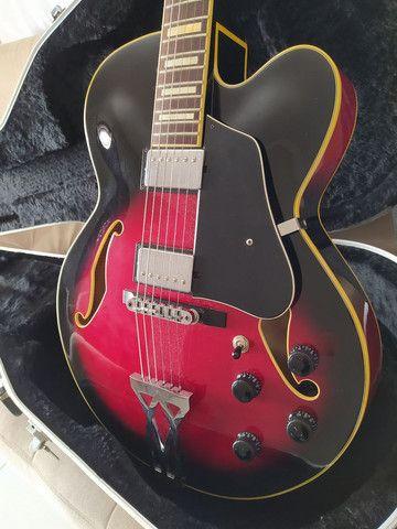 Guitarra Semi-acustica Ibanez AF75 + Case - Foto 3