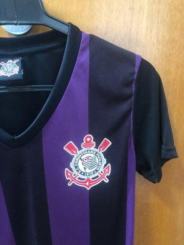 Camiseta dry fit feminina original do Corinthians  - Foto 2