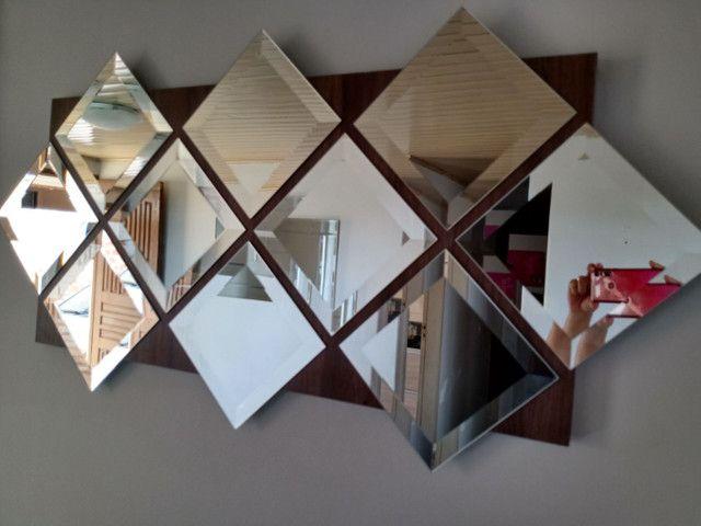 Painel de espelhos com 1,20 x 60 pronto para pendurar na parede