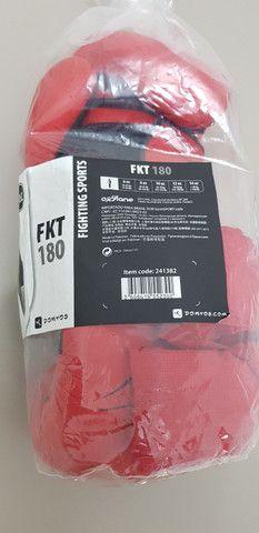 Luva de Boxe / Muay Thai Domyos - FKT 180 - 12 OZ + Bandagem - Foto 5