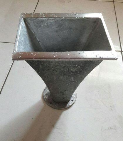Corneta longa de alumínio fundido escovado semi polida - Foto 4